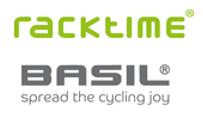 Fahrradzubehör Fahrradkörbe und Befestigungssystemevon Racktime und Basil Logos